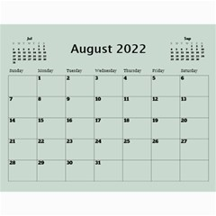 Green Frame Male 2017 Calendar (any Year) By Deborah   Wall Calendar 11  X 8 5  (12 Months)   Q5wert5sd5e8   Www Artscow Com Aug 2017