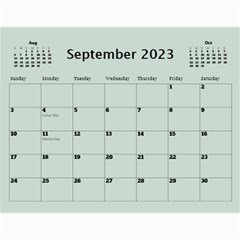 Green Frame Male 2017 Calendar (any Year) By Deborah   Wall Calendar 11  X 8 5  (12 Months)   Q5wert5sd5e8   Www Artscow Com Sep 2017