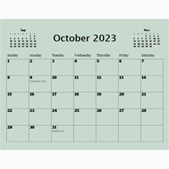 Green Frame Male 2017 Calendar (any Year) By Deborah   Wall Calendar 11  X 8 5  (12 Months)   Q5wert5sd5e8   Www Artscow Com Oct 2017