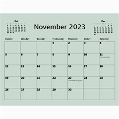 Green Frame Male 2017 Calendar (any Year) By Deborah   Wall Calendar 11  X 8 5  (12 Months)   Q5wert5sd5e8   Www Artscow Com Nov 2017