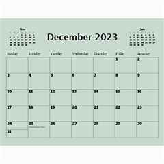 Green Frame Male 2017 Calendar (any Year) By Deborah   Wall Calendar 11  X 8 5  (12 Months)   Q5wert5sd5e8   Www Artscow Com Dec 2017
