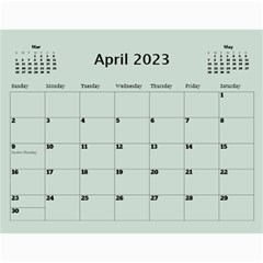 Green Frame Male 2017 Calendar (any Year) By Deborah   Wall Calendar 11  X 8 5  (12 Months)   Q5wert5sd5e8   Www Artscow Com Apr 2017
