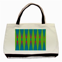 Connected Rhombus			basic Tote Bag by LalyLauraFLM