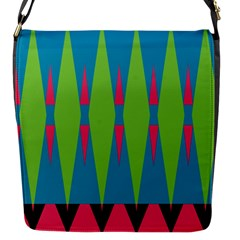 Connected Rhombusflap Closure Messenger Bag (s) by LalyLauraFLM