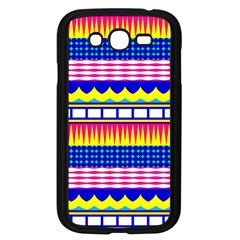 Rectangles waves and circlesSamsung Galaxy Grand DUOS I9082 Case (Black) by LalyLauraFLM