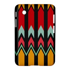 Waves And Other Shapes Patternsamsung Galaxy Tab 2 (7 ) P3100 Hardshell Case by LalyLauraFLM