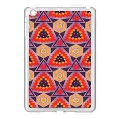 Triangles Honeycombs And Other Shapes Patternapple Ipad Mini Case (white) by LalyLauraFLM