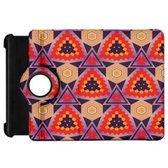 Triangles Honeycombs And Other Shapes Patternkindle Fire Hd Flip 360 Case by LalyLauraFLM