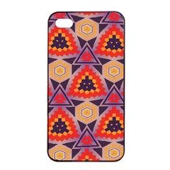Triangles Honeycombs And Other Shapes Pattern			apple Iphone 4/4s Seamless Case (black) by LalyLauraFLM