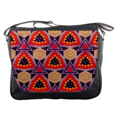 Triangles Honeycombs And Other Shapes Pattern			messenger Bag by LalyLauraFLM