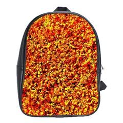 Orange Yellow  Saw Chips School Bags (xl)  by Costasonlineshop