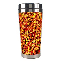 Orange Yellow  Saw Chips Stainless Steel Travel Tumblers by Costasonlineshop