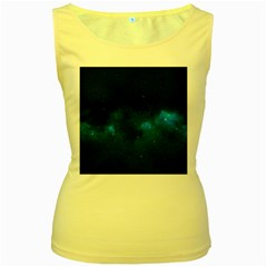 Starry Space Women s Yellow Tank Tops by trendistuff