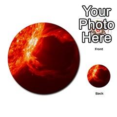 Solar Flare 1 Multi Purpose Cards (round)  by trendistuff