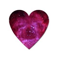 Rosette Nebula 1 Heart Magnet by trendistuff