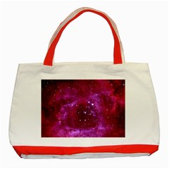 Rosette Nebula 1 Classic Tote Bag (red)  by trendistuff