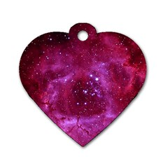 Rosette Nebula 1 Dog Tag Heart (one Side) by trendistuff