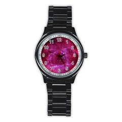 Rosette Nebula 1 Stainless Steel Round Watches by trendistuff