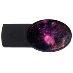 Purple Clouds Usb Flash Drive Oval (4 Gb)  by trendistuff