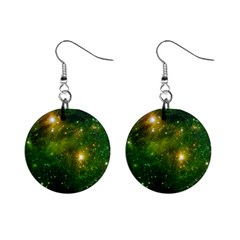 Hydrocarbons In Space Mini Button Earrings by trendistuff