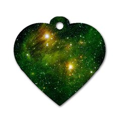 Hydrocarbons In Space Dog Tag Heart (two Sides) by trendistuff