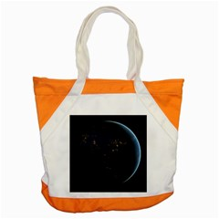 Global Night Accent Tote Bag  by trendistuff