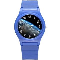EARTH ORBIT Round Plastic Sport Watch (S) by trendistuff