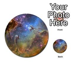Eagle Nebula Multi Purpose Cards (round)  by trendistuff