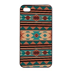 Southwest Design Turquoise And Terracotta Apple Iphone 4/4s Seamless Case (black) by SouthwestDesigns