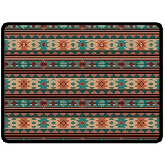 Southwest Design Turquoise and Terracotta Double Sided Fleece Blanket (Large)  by SouthwestDesigns