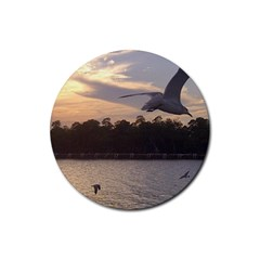 Intercoastal Seagulls 4 Rubber Coaster (round)  by Jamboo