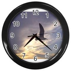 Seagull 1 Wall Clocks (Black) by Jamboo