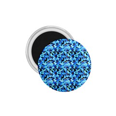 Turquoise Blue Abstract Flower Pattern 1 75  Magnets by Costasonlineshop