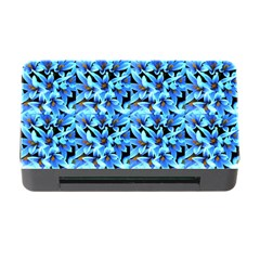 Turquoise Blue Abstract Flower Pattern Memory Card Reader With Cf by Costasonlineshop
