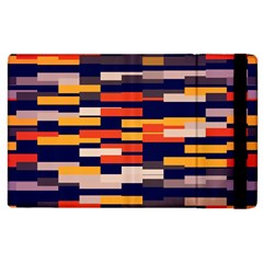 Rectangles In Retro Colors			apple Ipad 3/4 Flip Case by LalyLauraFLM
