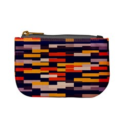 Rectangles In Retro Colors 	mini Coin Purse by LalyLauraFLM