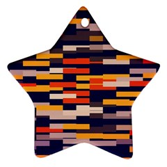 Rectangles In Retro Colorsornament (star) by LalyLauraFLM