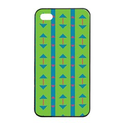 Arrows And Stripes Patternapple Iphone 4/4s Seamless Case (black) by LalyLauraFLM