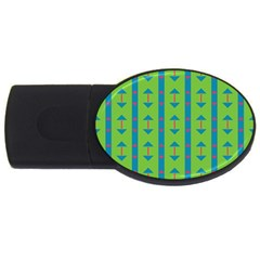 Arrows And Stripes Pattern			usb Flash Drive Oval (2 Gb) by LalyLauraFLM