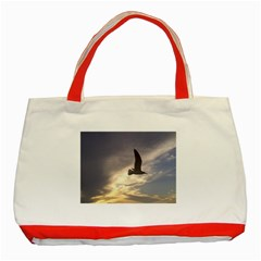 Fly Seagull Classic Tote Bag (Red)  by Jamboo