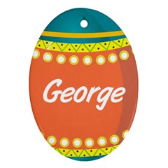 George Oval Ornament by walala