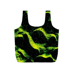 Green Northern Lights Full Print Recycle Bags (s)  by Costasonlineshop