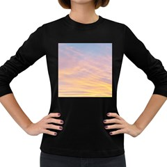 Yellow Blue Pastel Sky Women s Long Sleeve Dark T Shirts by Costasonlineshop