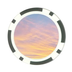 Yellow Blue Pastel Sky Poker Chip Card Guards by Costasonlineshop