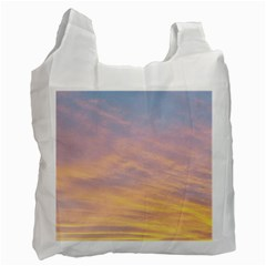 Yellow Blue Pastel Sky Recycle Bag (Two Side)  by Costasonlineshop