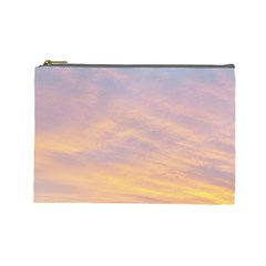 Yellow Blue Pastel Sky Cosmetic Bag (large)  by Costasonlineshop