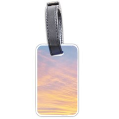 Yellow Blue Pastel Sky Luggage Tags (one Side)  by Costasonlineshop