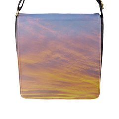 Yellow Blue Pastel Sky Flap Messenger Bag (l)  by Costasonlineshop
