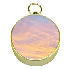 Yellow Blue Pastel Sky Gold Compasses by Costasonlineshop
