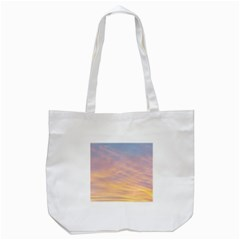 Yellow Blue Pastel Sky Tote Bag (white)  by Costasonlineshop